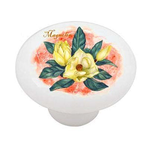 Yellow Magnolia Ceramic Drawer Knob