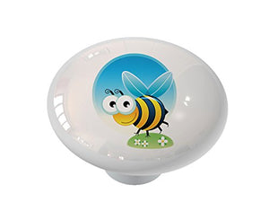 Crazy Bee Peeper Ceramic Drawer Knob