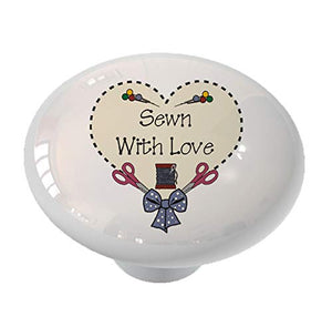 Sewn with Love Drawer Knob