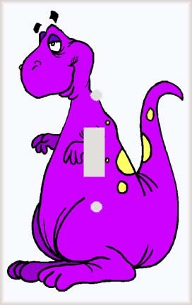 Little Purple Dinosaur Switch Plate Cover