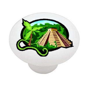 Mayan Paradise Ceramic Drawer Knob