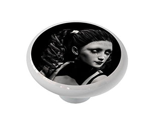 Pin Up Noir Ceramic Drawer Knob