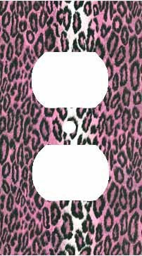 Hot Pink Leopard Skin Print Outlet Cover