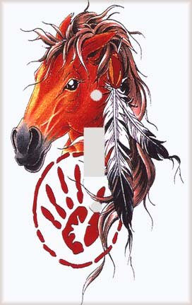 Indian Horse Switch Plate Cover