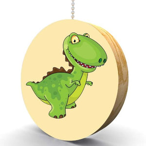 Little Green T Rex Hardwood Oak Fan/Light Pull