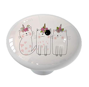 Caticorn Crowd Unicorn Drawer Knob