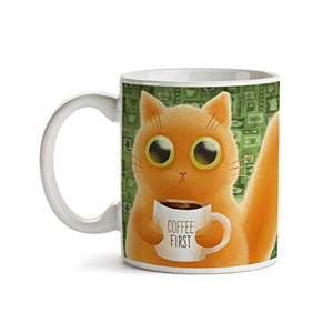 Caffeinated Cat 11oz Coffee Mug - Tea Mug