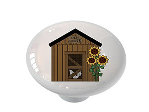 Hen House Ceramic Drawer Knob