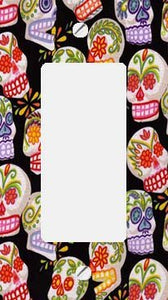 Day of the Dead Sugar Skulls GFI Rocker Switchplate Cover