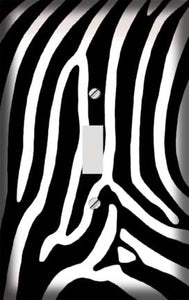 Safari Zebra Skin Print Switch Plate Cover