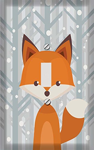 Winter Woodland Fox Switch Plate Cover
