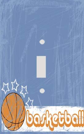 Basketball Star Switch Plate Cover