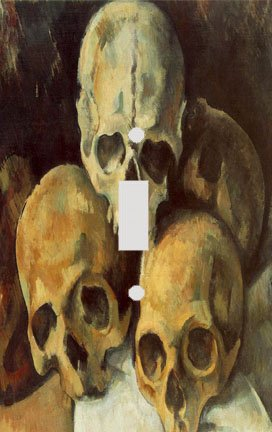 Cezanne Pyramid of Skulls Switch Plate Cover