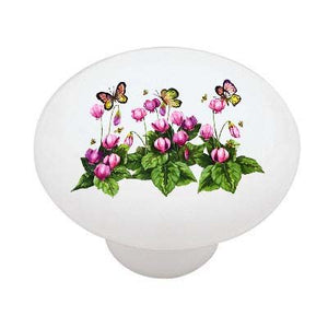 Butterflies, Flowers, and Bees Ceramic Drawer Knob