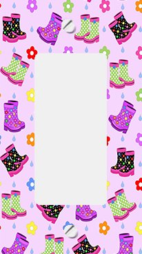 Funky Rainboots GFI Rocker Switchplate Cover