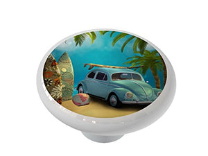 Surfers Beach Ceramic Drawer Knob