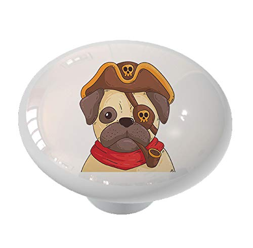 Pug Pirate Drawer Drawer Knob