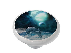 Freedom of Dolphins Ceramic Drawer Knob
