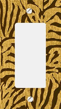 Golden Zebra Skin GFI Rocker Switchplate Cover