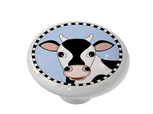 Happy Cow Ceramic Drawer Knob