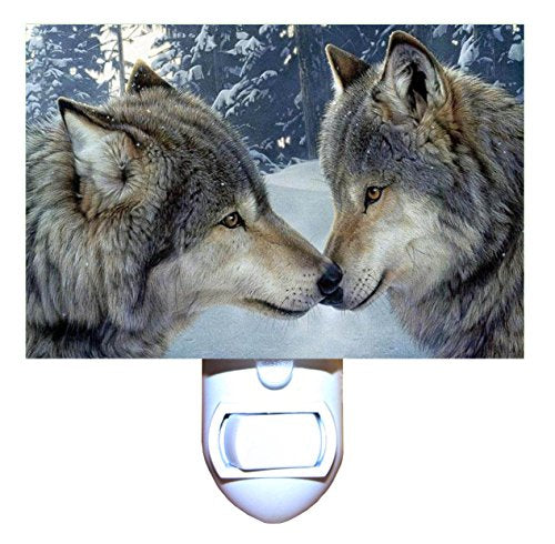 Snow Wolf Kiss Night Light