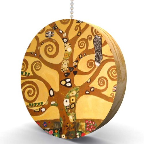 Gustav Klimt Tree of Life Hardwood Oak Fan/Light Pull