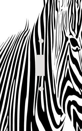 Zebra Zebra Skin Stripe Print Switch Plate Cover