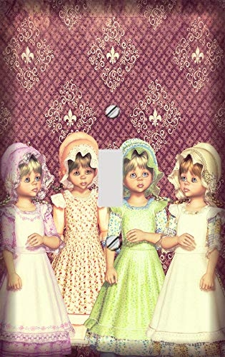 Victorian Dolls Switch Plate Cover