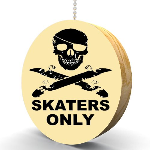 Skaters Only Hardwood Oak Fan/Light Pull