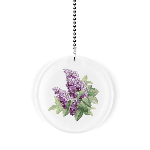 Lovely Lilacs Fan Pull
