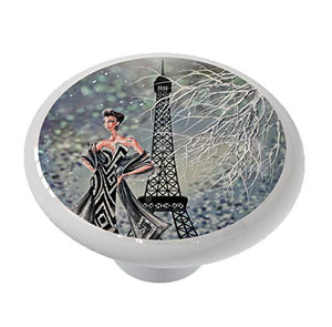 Winter Paris Fashions Drawer Knob
