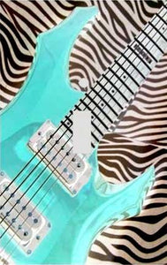 Electric Guitar on Zebra Switch Plate Cover