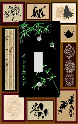 Elegant Japanese Bamboo Switch Plate Cover