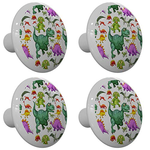 Set of 4 T Rex and Pals Dinosaur Drawer Knobs