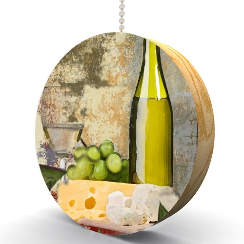 White Wine and Cheese Hardwood Oak Fan/Light Pull
