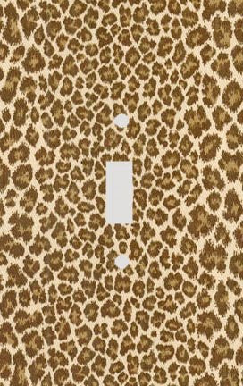 Small Spot Leopard Skin Print Switch Plate Cover