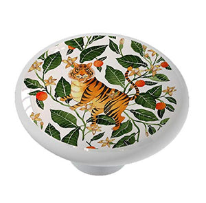 Oriental Tiger Design Drawer Knob