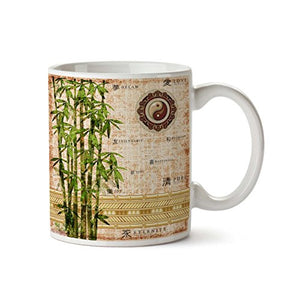 Abstract Asian 11oz Coffee Mug - Tea Mug