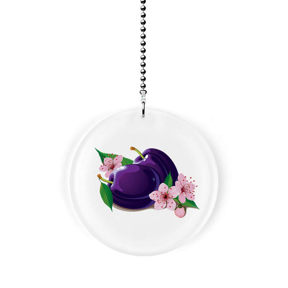 Plum Blossoms Fan Pull