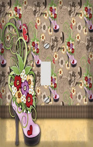 Fancy Flower Shoe Switch Plate Cover