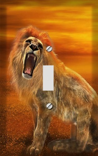 Roaring Sunset Lion Switch Plate Cover