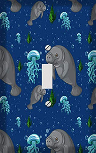 Ocean Manatees Switch Plate Cover