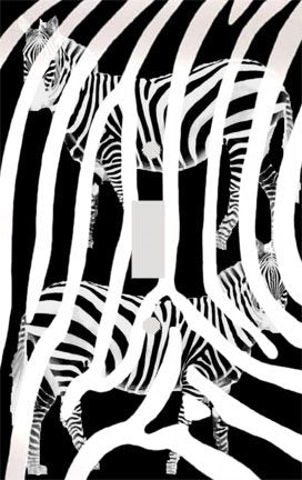 Zebra Stripe Print Silhouettes Switch Plate Cover