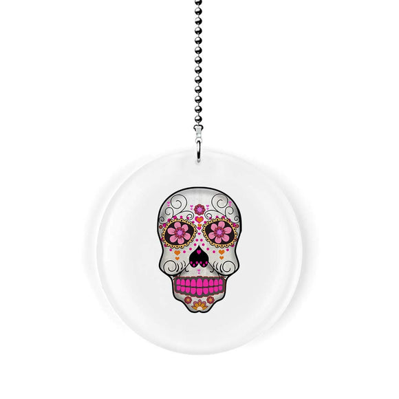 Flower Eyes Sugar Skull Fan/Light Pull
