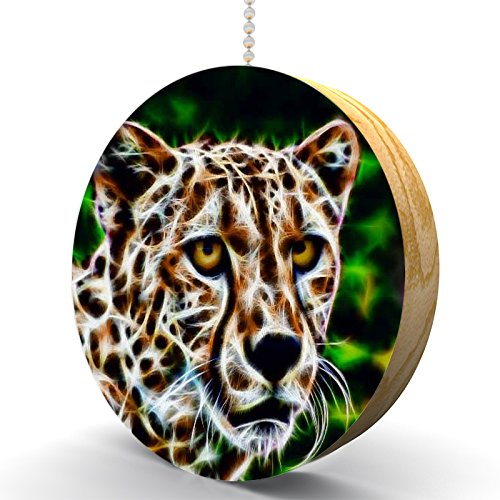 Cheetah Illumination Hardwood Oak Fan/Light Pull