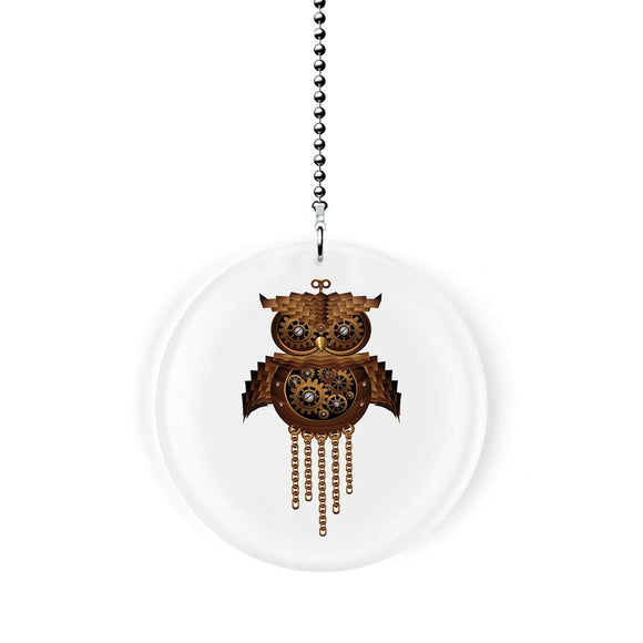 Mechanical Steampunk Owl Fan Pull