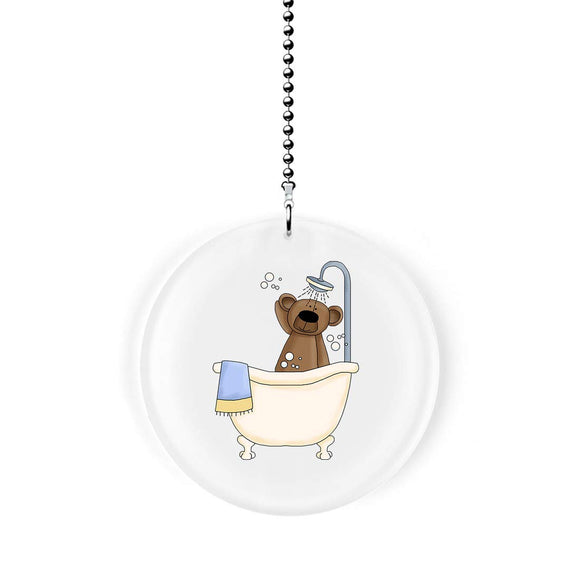 Shower Time Bear Fan Pull