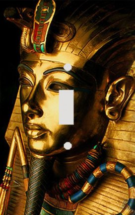 Egyptian Golden Mask of the Pharaoh Switch Plate Cover