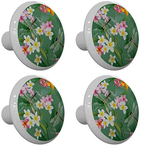 Set of 4 Tropical Garden Dragonflies Dragonfly Drawer Knobs