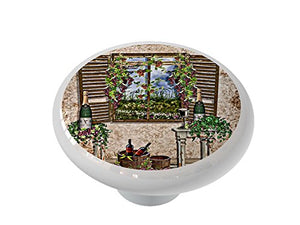 Tuscan Wine Room Ceramic Drawer Knob